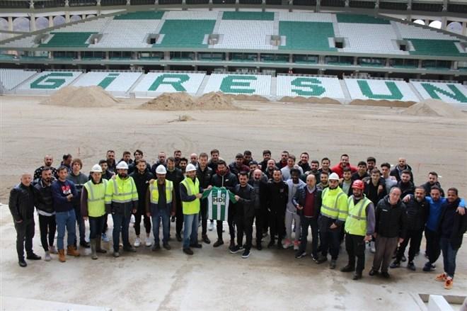 Giresunspor yeni stadında