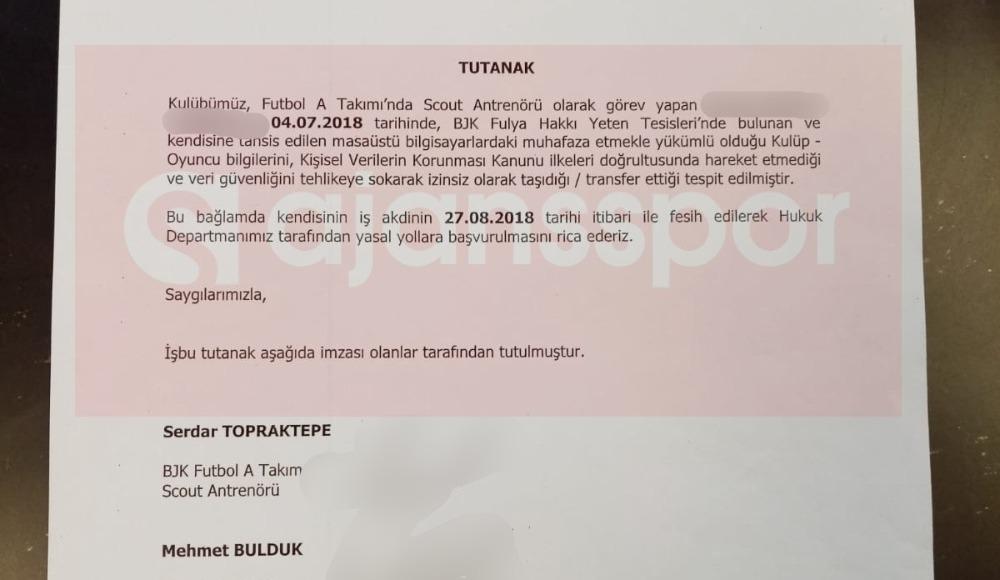 Bilgi çalmakla suçlanan isim Beşiktaş'a dönüyor!