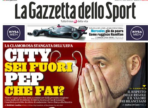 İtalya'dan La Gazzetta dello Sport
