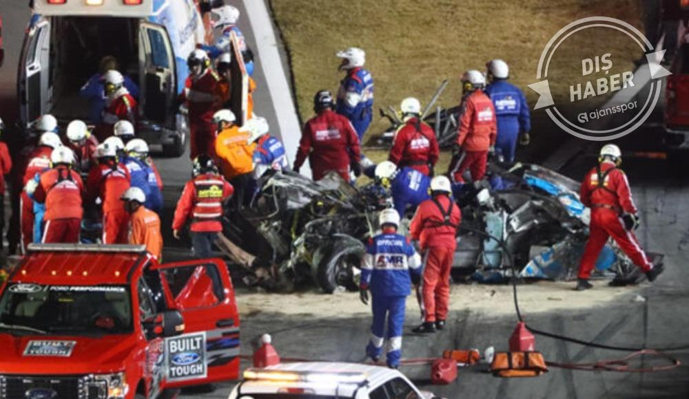 NASCAR Daytona 500 yarışında korkunç bir kaza meydana geldi.