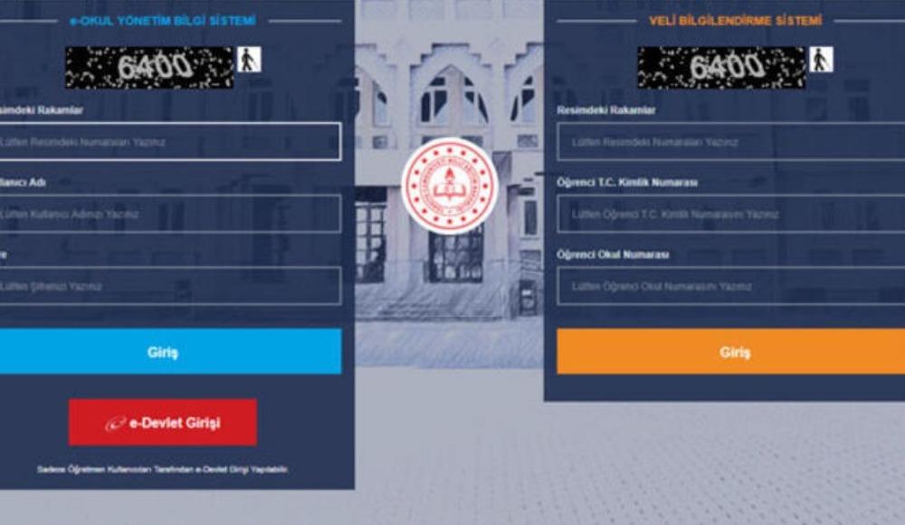 E-okul veli bilgilendirme sistemi ekranı 2020