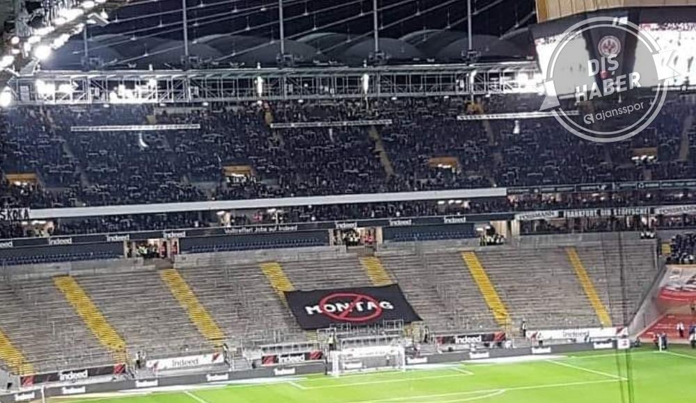 Eintracht Frankfurt taraftarından dev protesto! Pazartesi maçları...