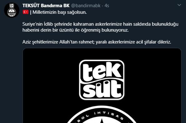 TEK SÜT BANDIRMA