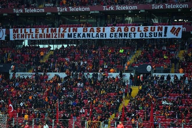 Galatasaray - Gençlerbirliği maçında İdlib şehitleri unutulmadı