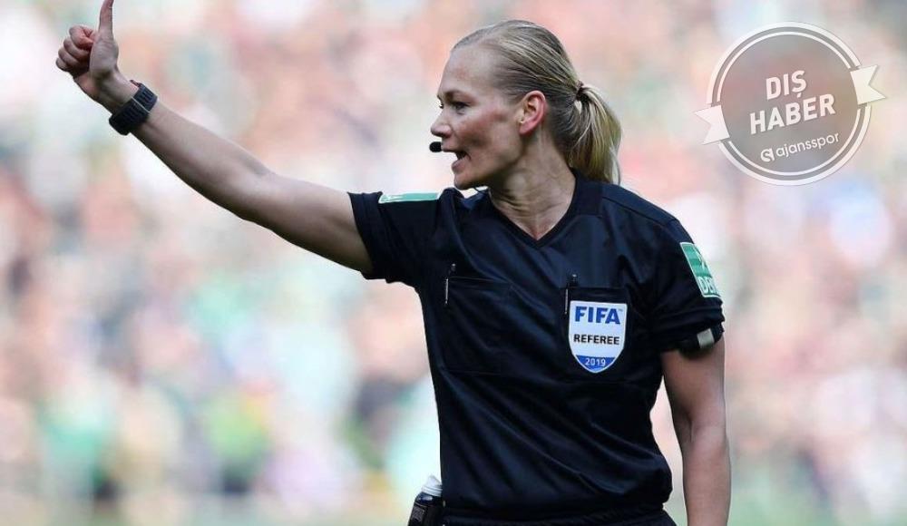 Almanya'da o maça kadın hakem!