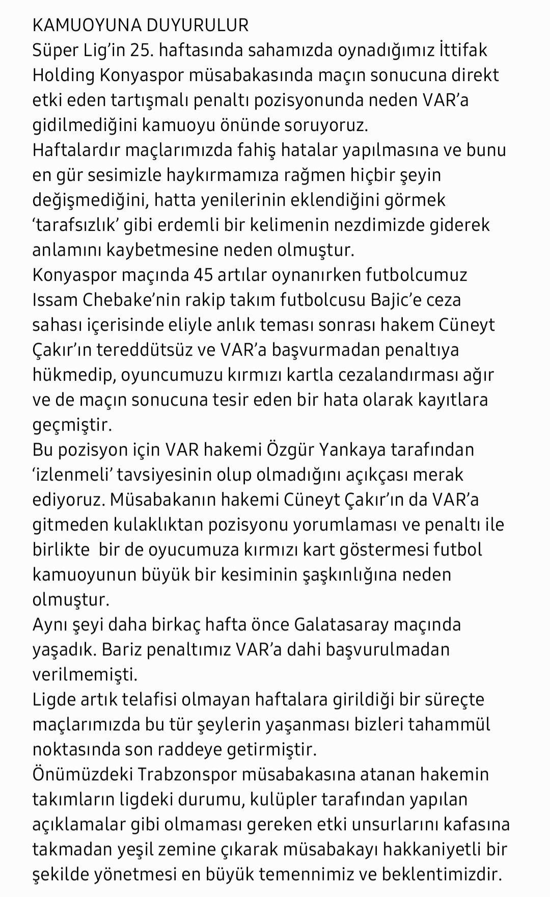 İşte Yeni Malatyaspor'un açıklaması!
