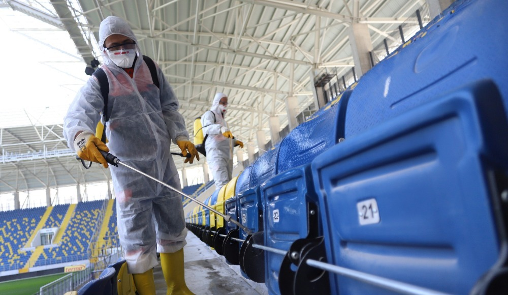 Eryaman Stadyumu'nda koronavirüs önlemi
