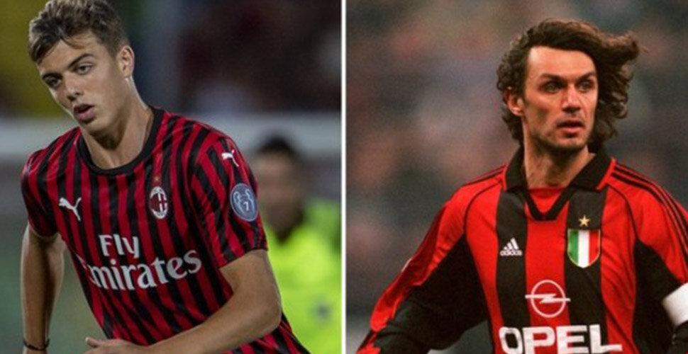 Paolo Maldini ve oğlu Daniel Maldini (Milan)