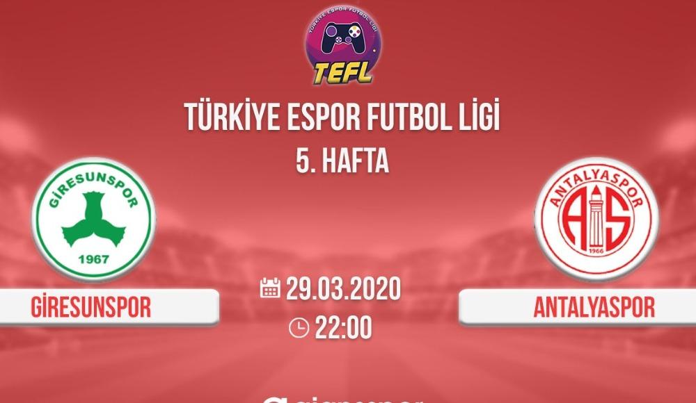 Giresunspor – Antalyaspor E-Spor TEF Ligi maçı! (CANLI)