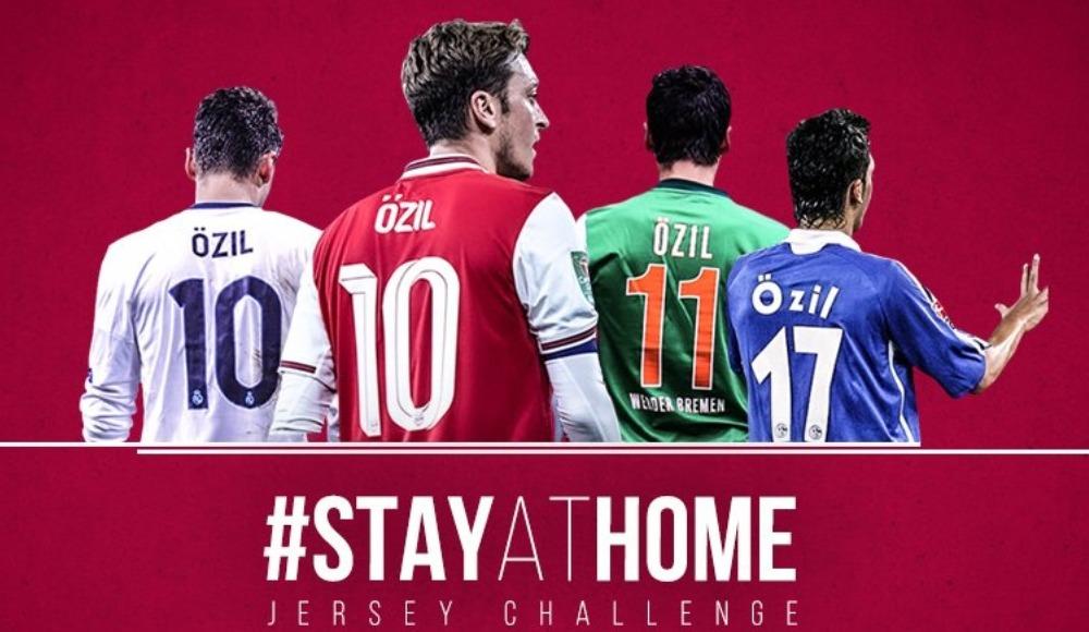 """Mesut Özil'den """"evde kalanlara"""" Arsenal maçına davetiye"""