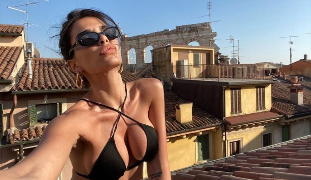 Jovana Djordjevic çatıda verdiği pozlarla olay oldu!