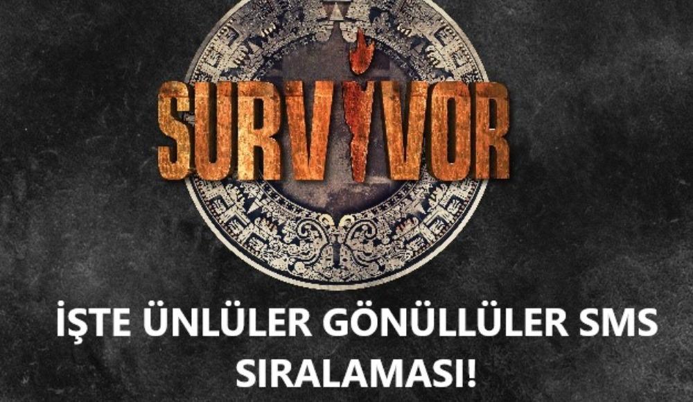 Survivor 2020 ünlüler gönüllüler sms sıralaması haberimizde! İşte elenen isim…