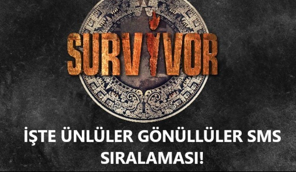 İşte Survivor Ünlüler Gönüllüler SMS sıralaması! Adadan elenen isim...