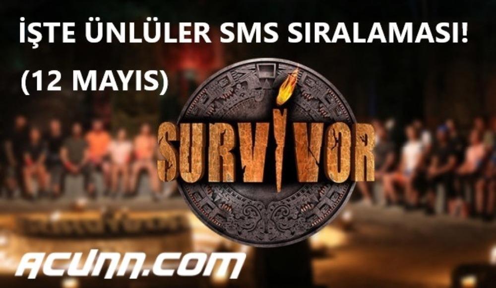 İşte Survivor'da Ünlüler sms sıralaması! Acunn.com video izle (12 Mayıs Salı)