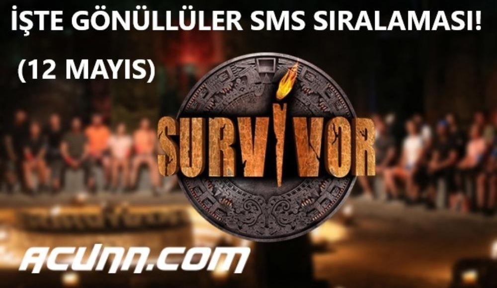 İşte Survivor'da Gönüllüler sms sıralaması! Acunn.com video izle (12 Mayıs Salı)