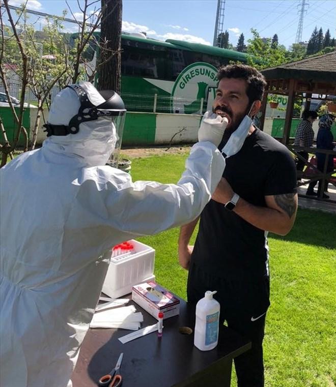 Giresunspor takımı koronavirüs testinden geçti