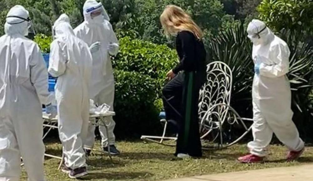 Ünlü şarkıcının eşi koronavirüs testinden geçti