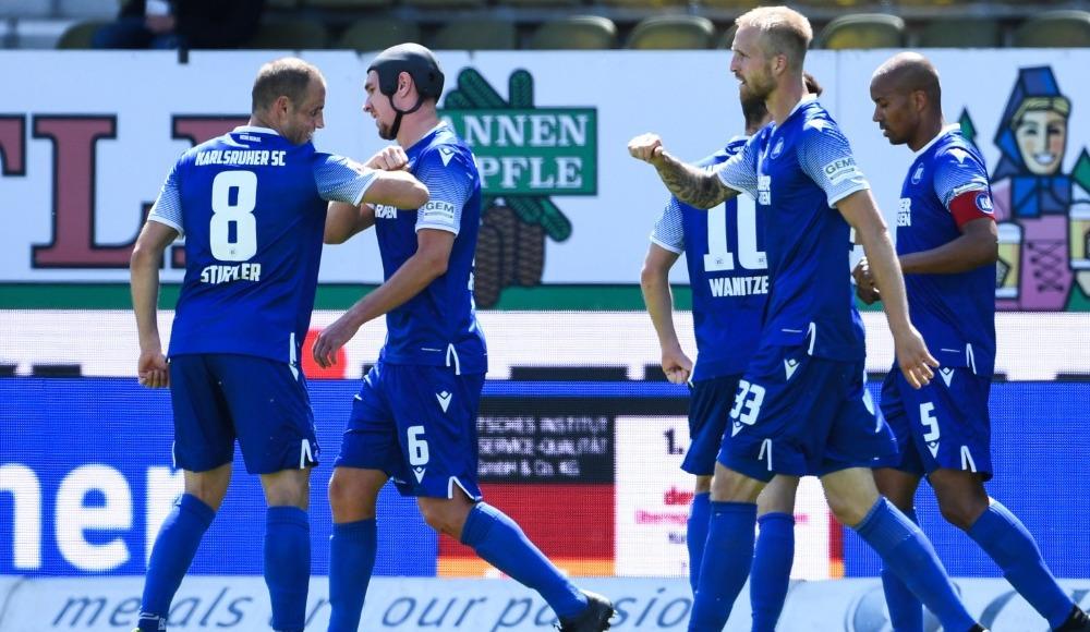 Karlsruher futbola galibiyetle döndü