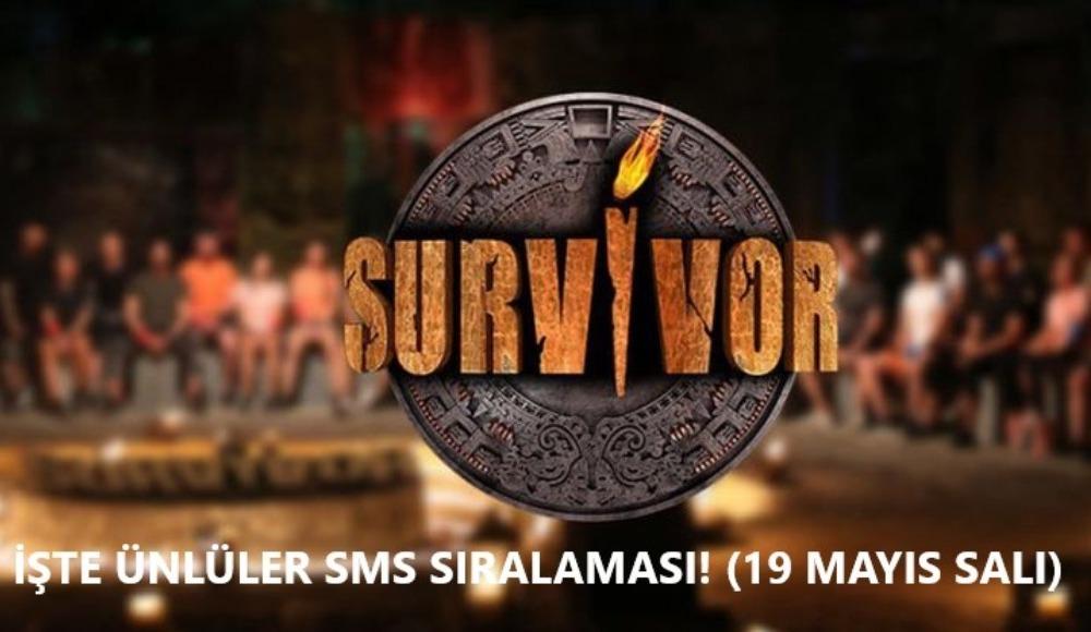 İşte Survivor 2020 Ünlüler sms sıralaması! (19 Mayıs Salı)