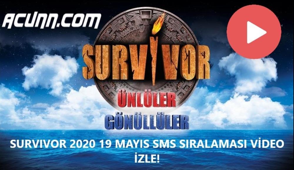 Acunn.com sms sıralaması video izle! Survivor Ünlüler - Gönüllüler... (19 Mayıs Salı)