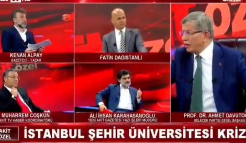 Ahmet Davutoğlu Akit TV canlı yayınında çıldırdı