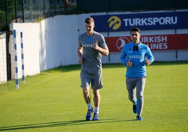 Trabzonspor günü çift antrenmanla tamamladı