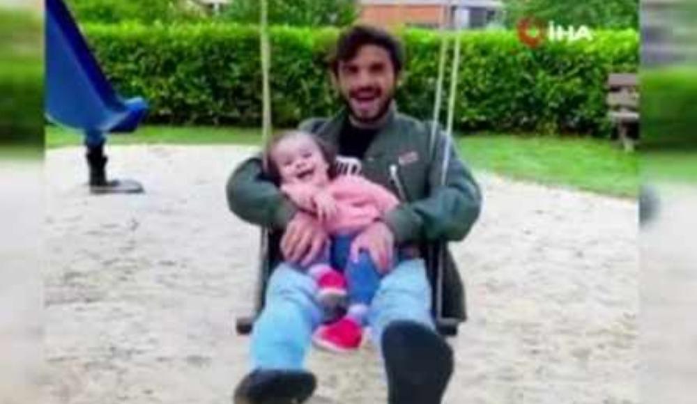 Marcelo Saracchi'nin çocuğu ile keyifli anları