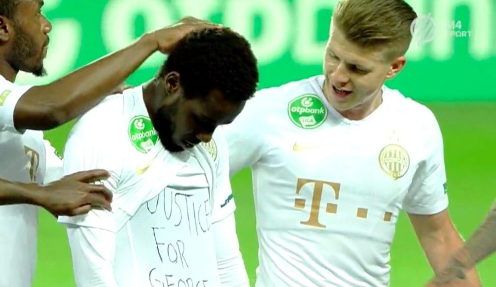 Macaristan Futbol Federasyonundan George Floyd'u anan futbolcuya ceza
