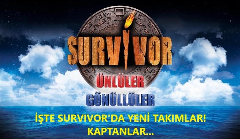 Survivor'da yeni takımlar belli oldu! Kaptanlar…