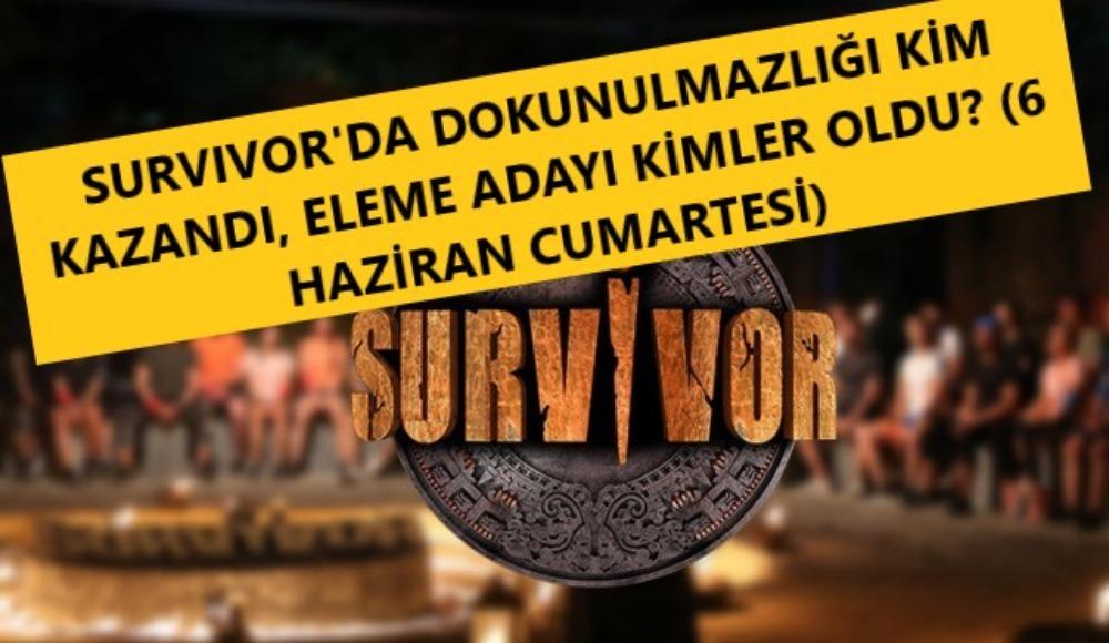 Survivor yeni bölümde dokunulmazlığı kim kazandı, eleme adayları kimler? İşte cevabı…
