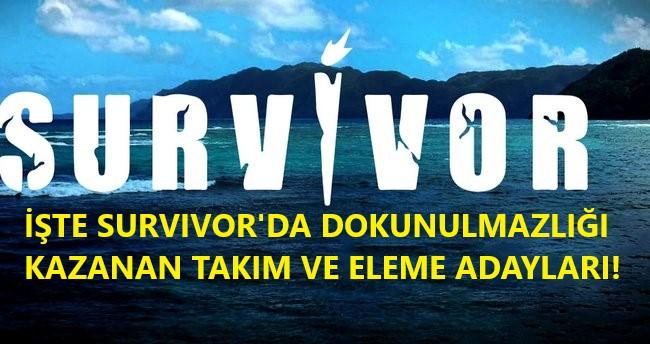 Survivor dokunulmazlık oyunu kim hangi takım kazandı, eleme adayı kim oldu? (20 Haziran Cumartesi)