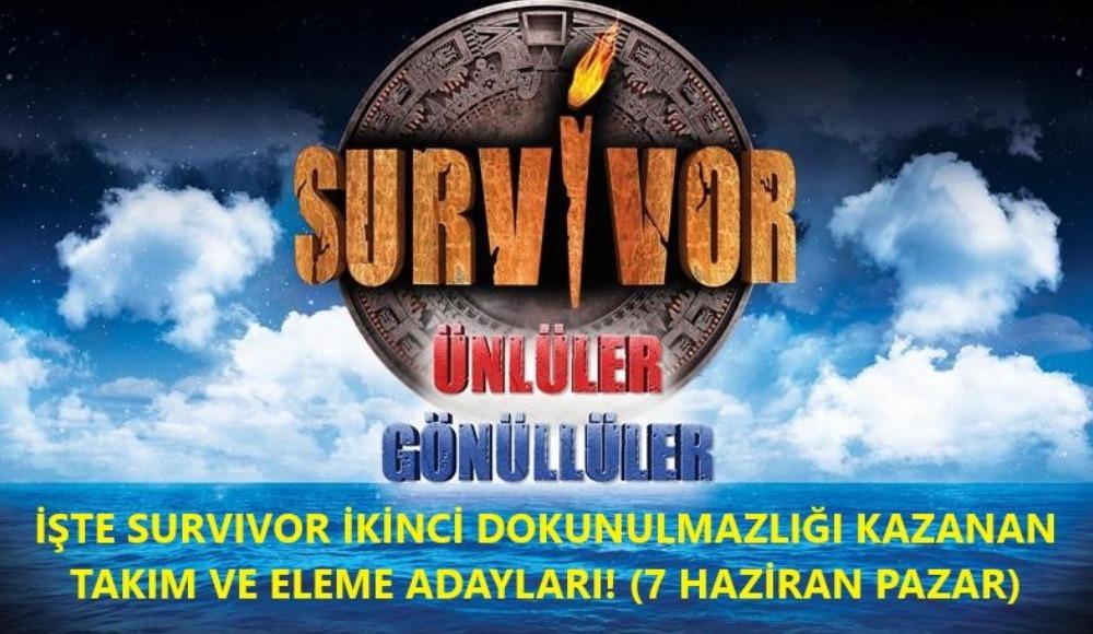 Survivor'da dokunulmazlığı kazanan takım ve eleme adayları belli oldu! (7 Haziran Pazar)