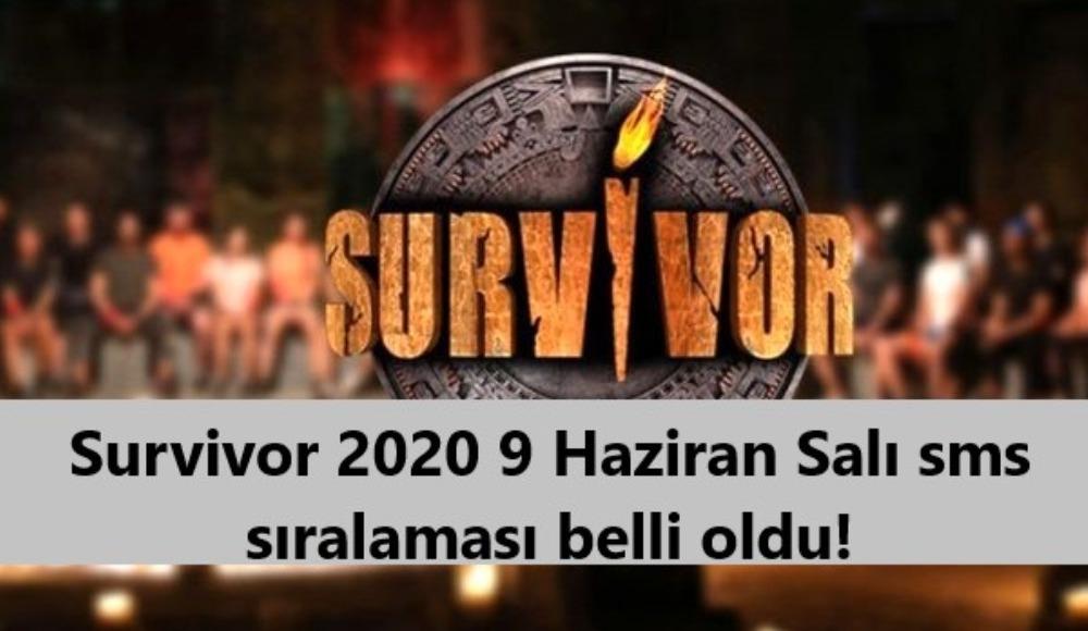 Survivor 2020 9 Haziran Salı sms sıralaması belli oldu!