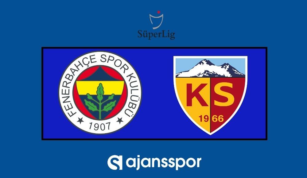 Fenerbahçe - Kayserispor (Şifresiz maç yayını)