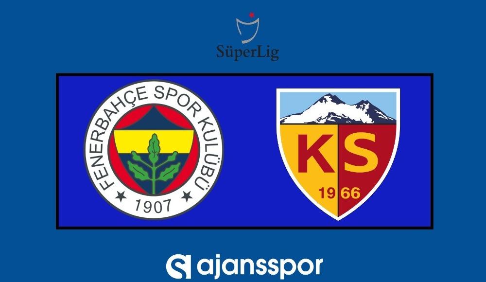 Fenerbahçe - Kayserispor (Şifresiz maç seyret)