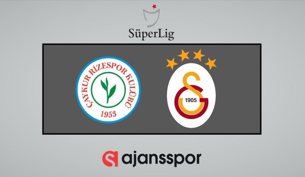 Çaykur Rizespor - Galatasaray (Şifresiz maç izle)