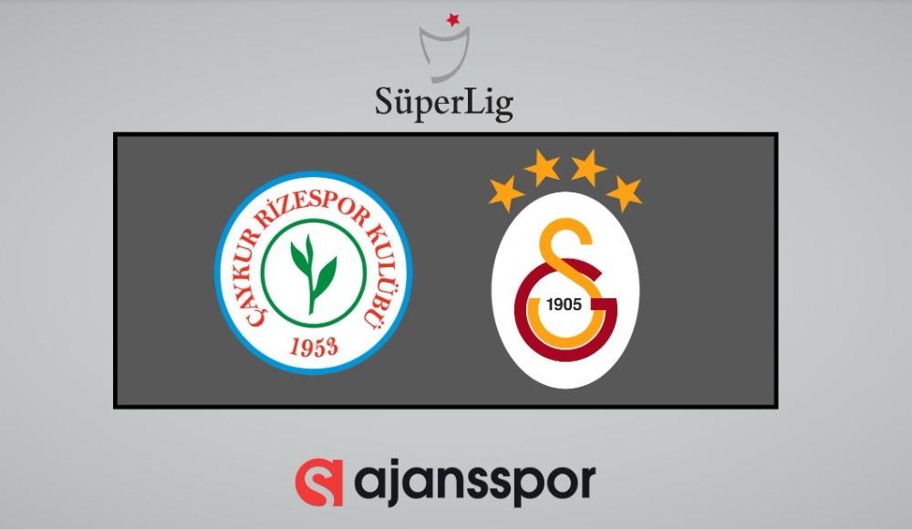 Çaykur Rizespor - Galatasaray (Şifresiz izle)