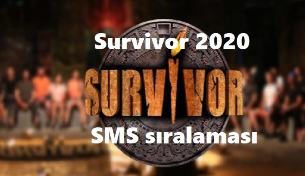 Survivor 2020 23 Haziran Salı sms sıralaması belli oldu!