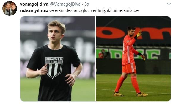 Beşiktaş taraftarlarının Rıdvan Yılmaz tepkisi