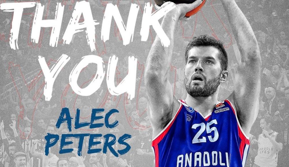 Anadolu Efes'te ABD'li basketbolcu Alec Peters ile yollar ayrıldı