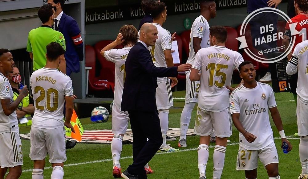 Zinedine Zidane, Bilbao maçı sonrası isyan etti!