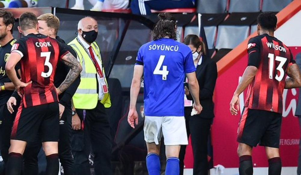 Çağlar Söyüncü kırmızı gördü, Leicester City farklı kaybetti (Video)