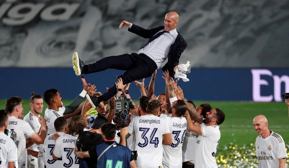 """Zinedine Zidane: """"Bu ligi kazanmak çok zor ama kazandık"""""""