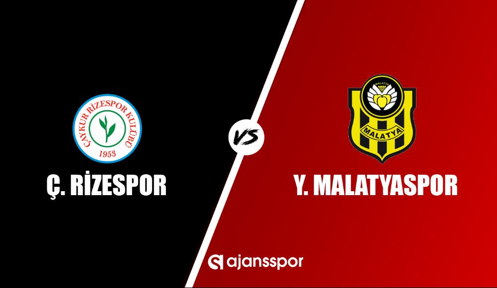 Çaykur Rizespor - Yeni Malatya (Canlı Skor)