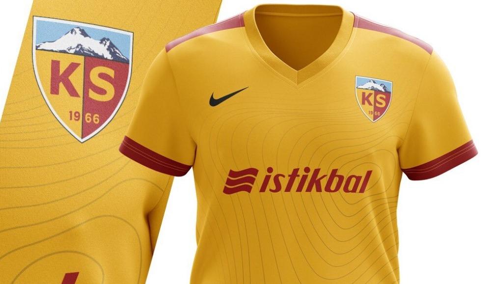 Kayserispor'un yeni sezon formasında Erciyes Dağı detayı...