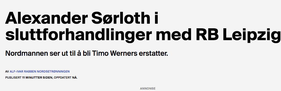 İşte Norveç basınında yer alan o haber!