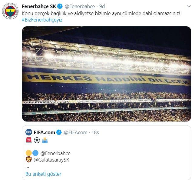 Fenerbahçe'den göndermeli paylaşım
