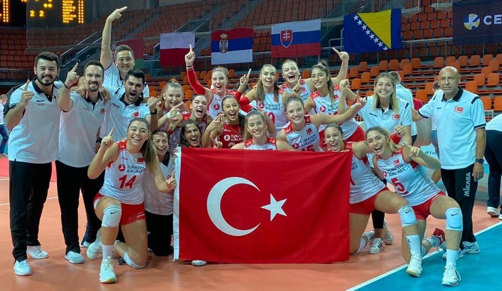 19 yaş altında Kadın Voleybol Milli Takımı, Avrupa şampiyonu!
