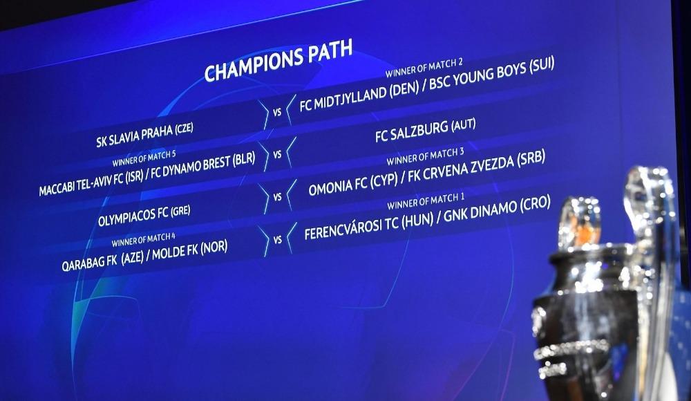 Şampiyonlar Ligi'nde play-off eşleşmeleri belli oldu
