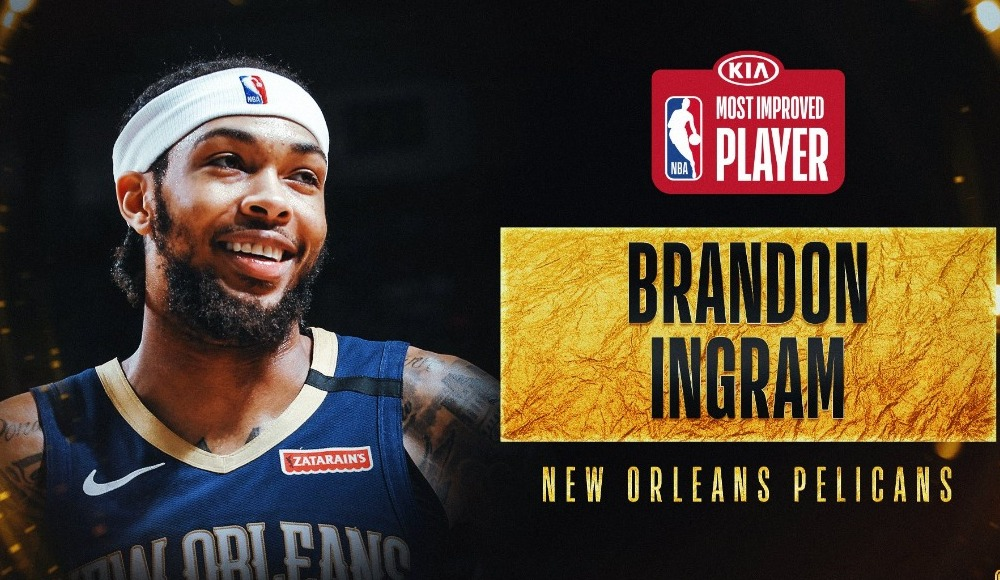 """Brandon Ingram, """"En Çok Gelişme Gösteren Oyuncu"""" seçildi"""